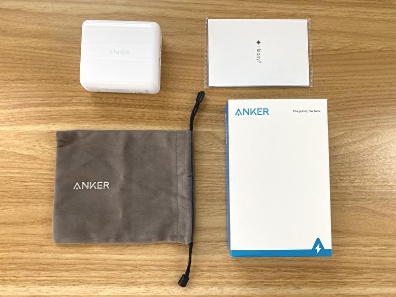 【Anker PowerCore III Fusion 5000】の付属品と外観レビュー