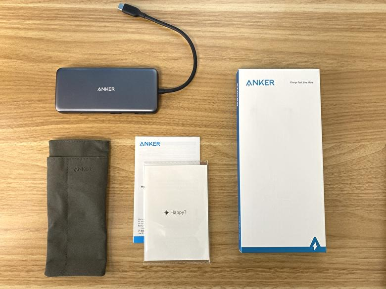 【Anker PowerExpand 8-in-1 USB-C PD 10Gbps データ ハブ】の付属品と外観レビュー
